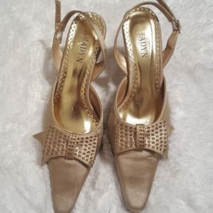Women's Gold Slingback Shoe